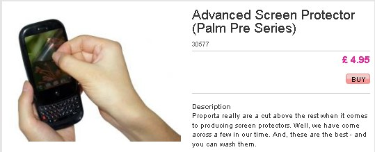 palm pre advanced screen protector Proporta releases Palm Pre cases