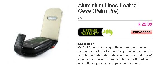 palm pre leather case Proporta releases Palm Pre cases