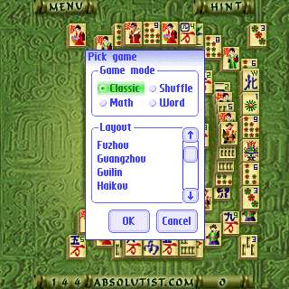 2a Absolutist.com Mahjong(Kyodai) for Palm OS   the review
