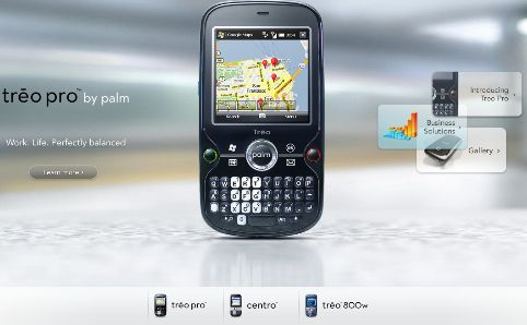 Unbenannt Palm redesigns web site, removes handhelds