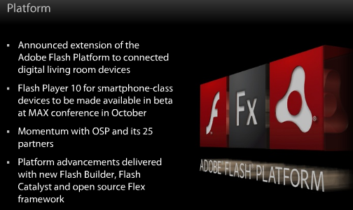 flash 10 smartphone Adobe: Flash 10 mobile beta drops in October