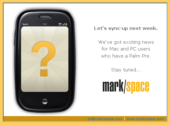 sync pre Mark/Space to launch Pre sync solution soon