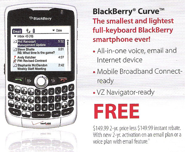 blackberry palm os BlackBerry Curve + Palm OS = funny ad