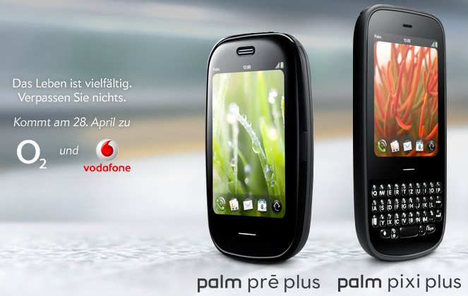 palm pre vodafone Palm Pre Plus / Pixi Plus hit O2 and VodaFone Germany on the 28th