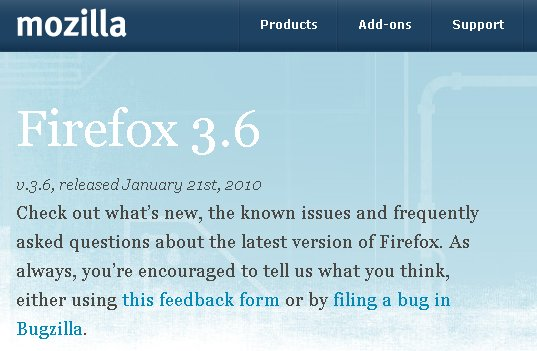 firefox 3.6 released Firefox 3.6 released
